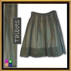 TALBOTS Green Cotton Skirt - Size 6